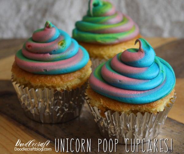 Unicorn Poop Cupcakes!