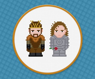 Renly Baratheon and Loras Tyrell - Game of Thrones - Free PDF Cross Stitch Pattern