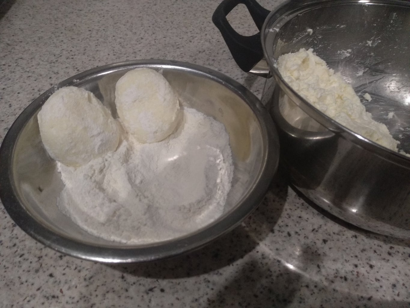 Forming Curd Fritter
