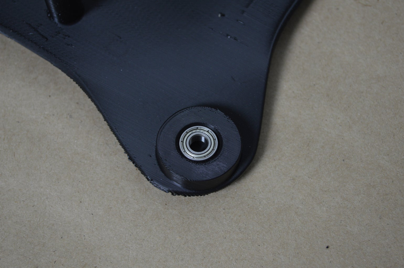 Mount Bearings Into Chassis Bottom