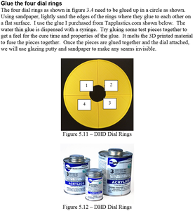 Construction - Glue the Four Dial Rings