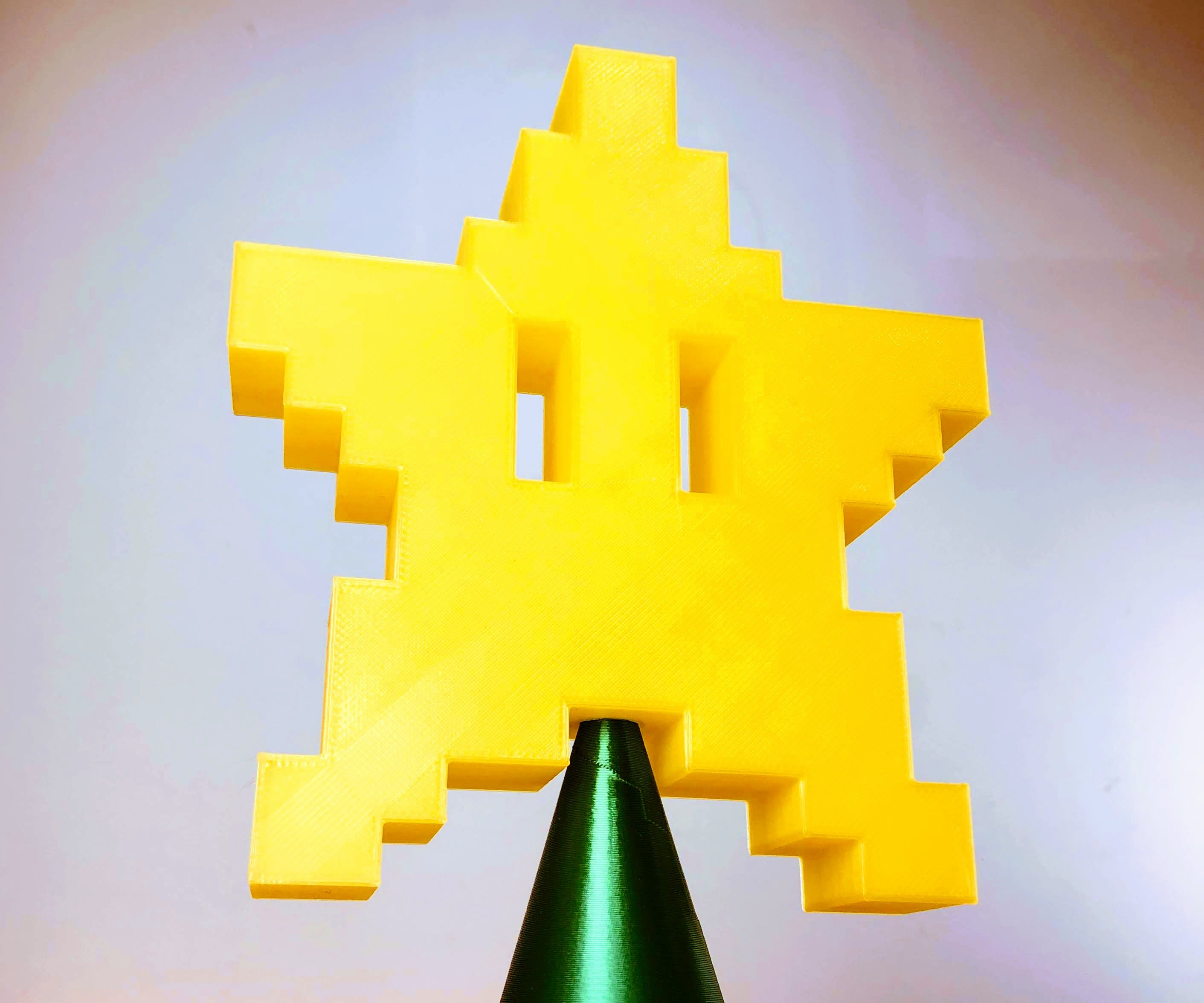 Design an 8 Bit Star Tree Topper in Fusion 360