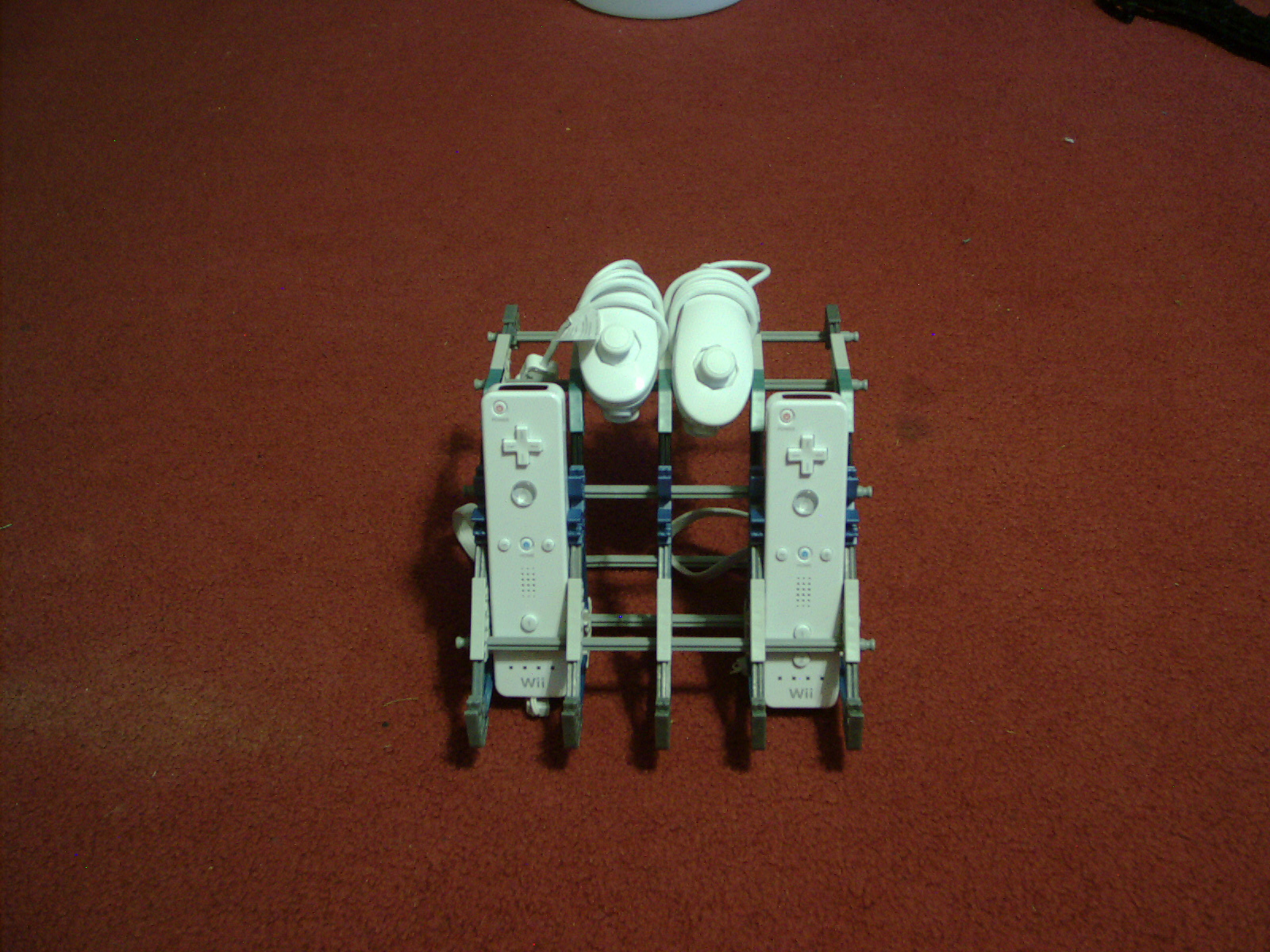 Wii controller and nunchuck stand.