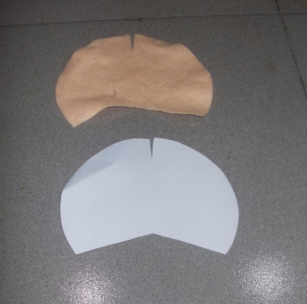 Cut Out Templates and Trace the Front 2A Onto the Felt  and Cut It Out.