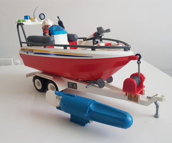 Remote Controlled Conversion Playmobil 4823 Fire Rescue Boat