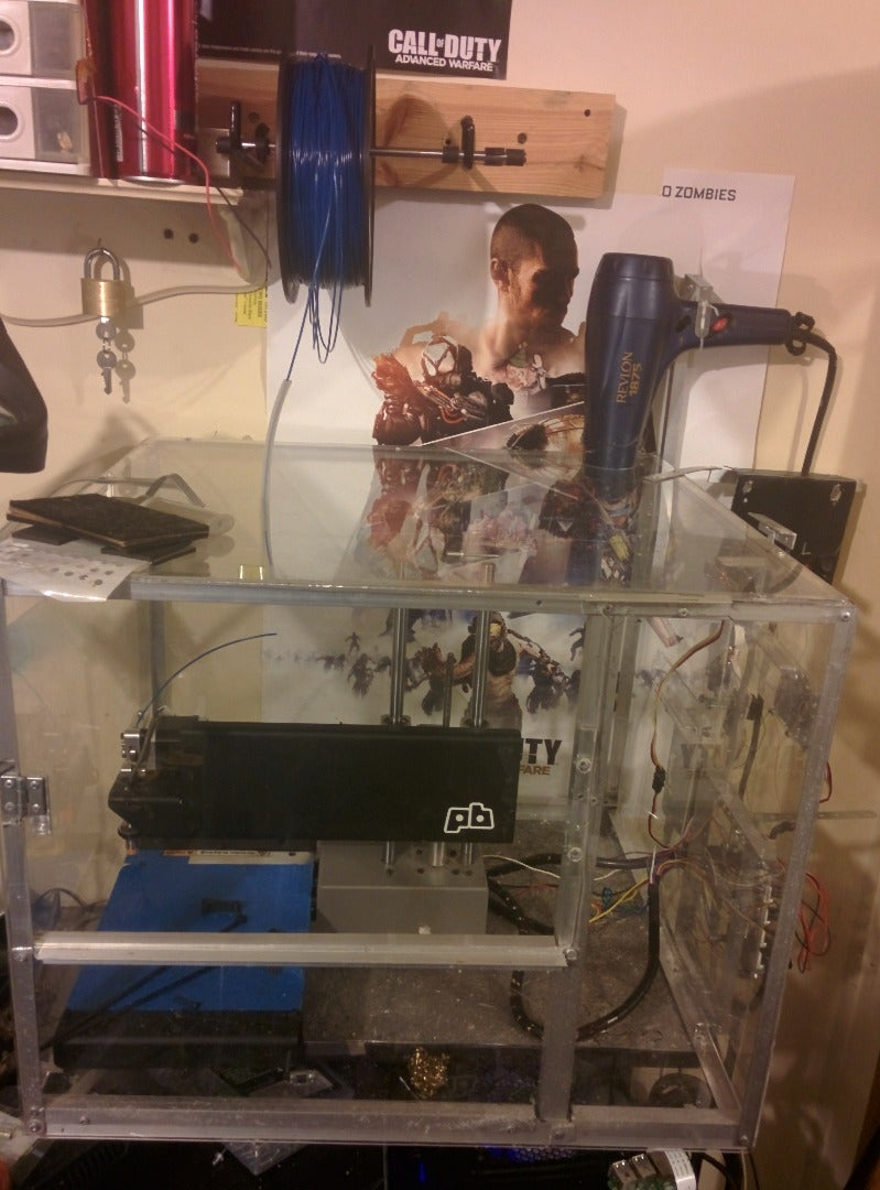 Intel Edison Based Heated 3d Printer Enclosure (use an Arduino, Edison Sucks, Froze Every Time!)