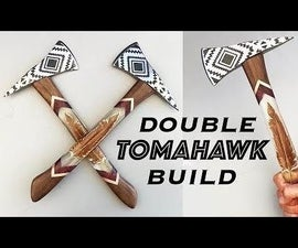 Electro-Etched Tomahawk Axes With Feather Epoxy Inlays