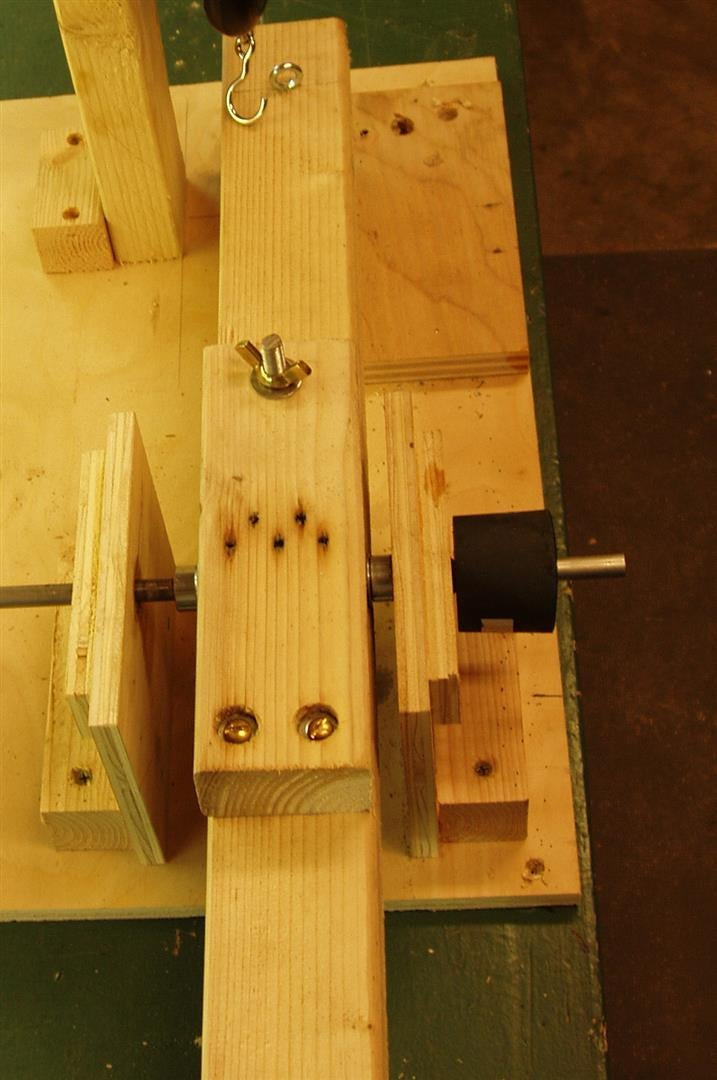 Make the Shaft Support and Attach the Prony Brake