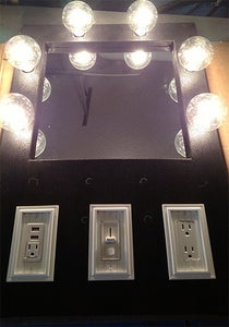 Let There Be Light. and a Mirror. and USB Ports. and Plugs.