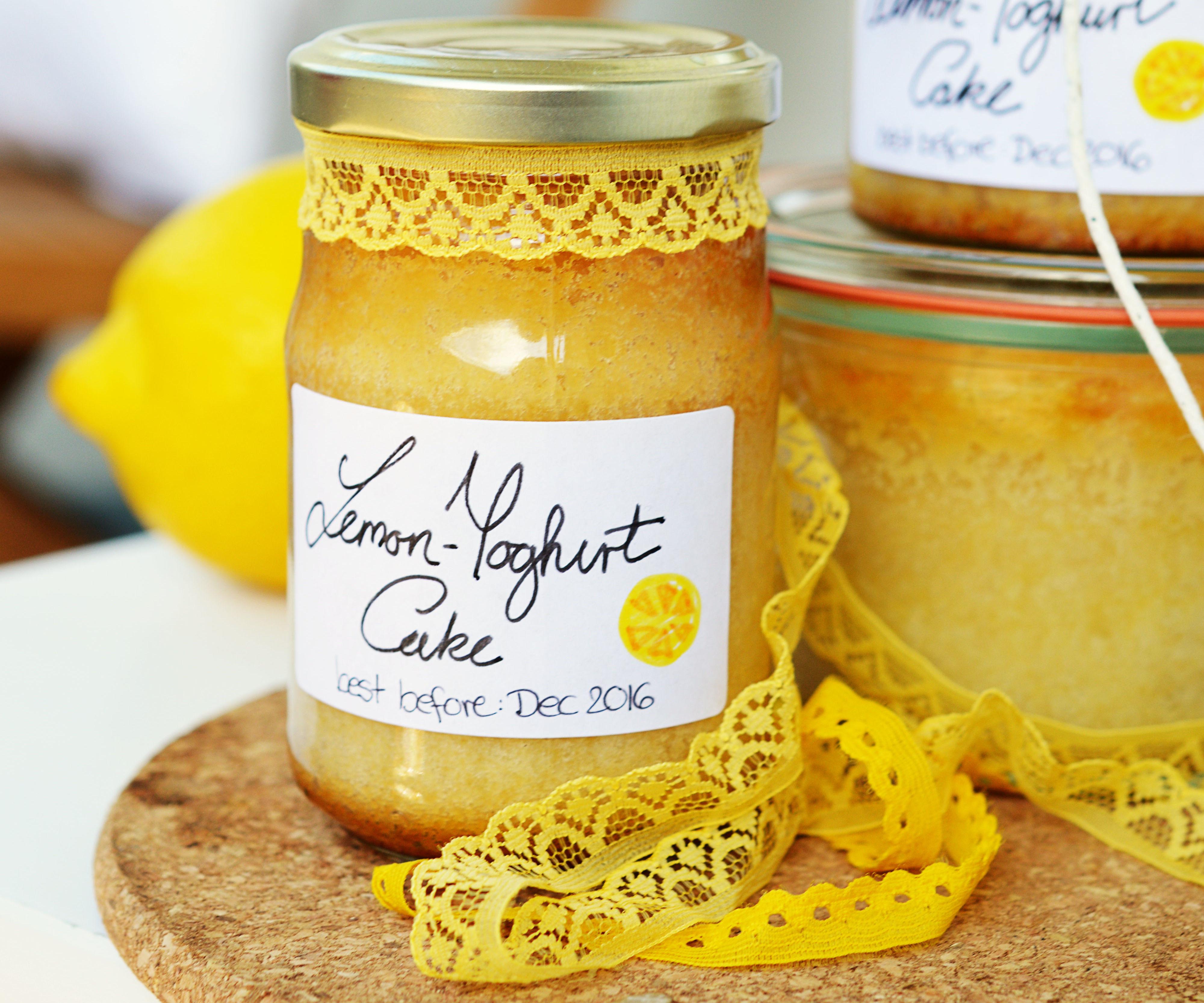 Lemon-Yoghurt Cake in a Jar