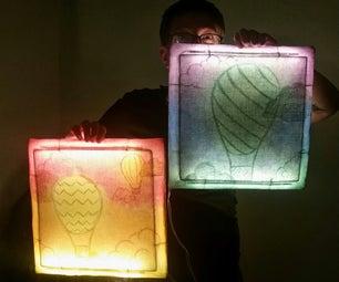 Bare Bones Batik: Light-Up Wall Art