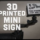 3d Printed GoPro Type Sign