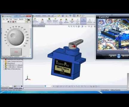 visualization of Real and virtual Prototype using Solidworks, Labview and Arduino