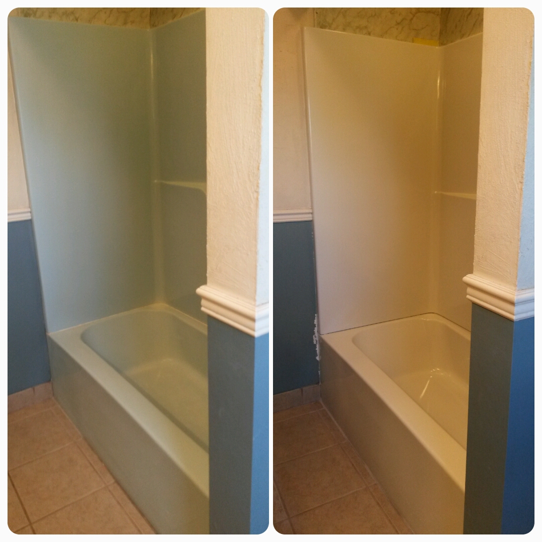 How to repaint a shower & tub