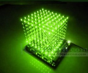 DIY. 3D Led Cube 8x8x8 3mm