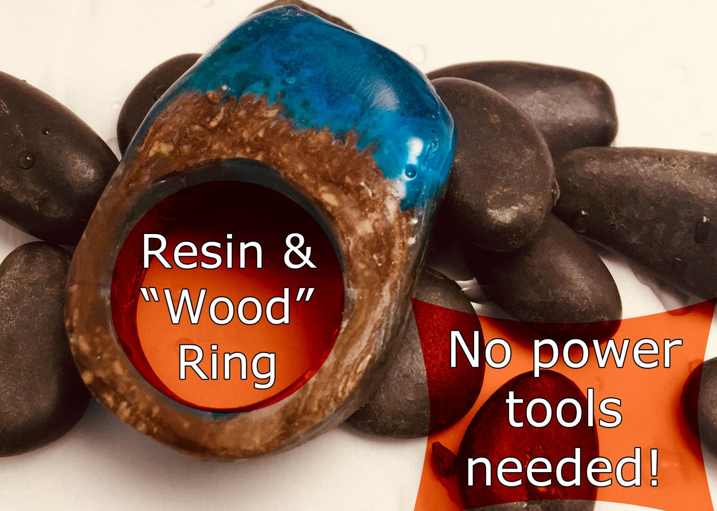 Faux Wood & Resin Ring