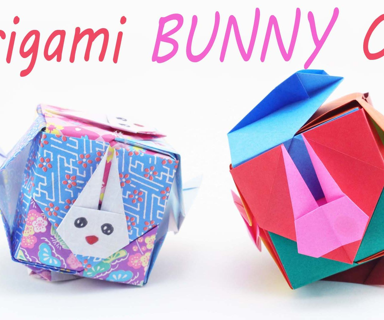 Origami Bunny Cube ✿ DIY Crafts Tutorial ✿ - SunderOrigami!