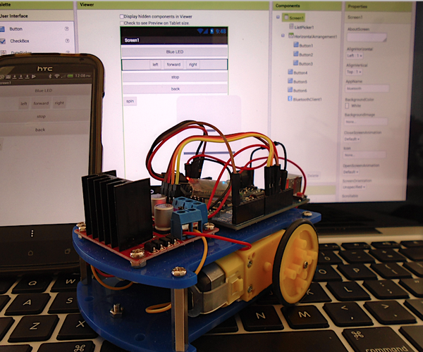 Mobile Phone Controlled Robot