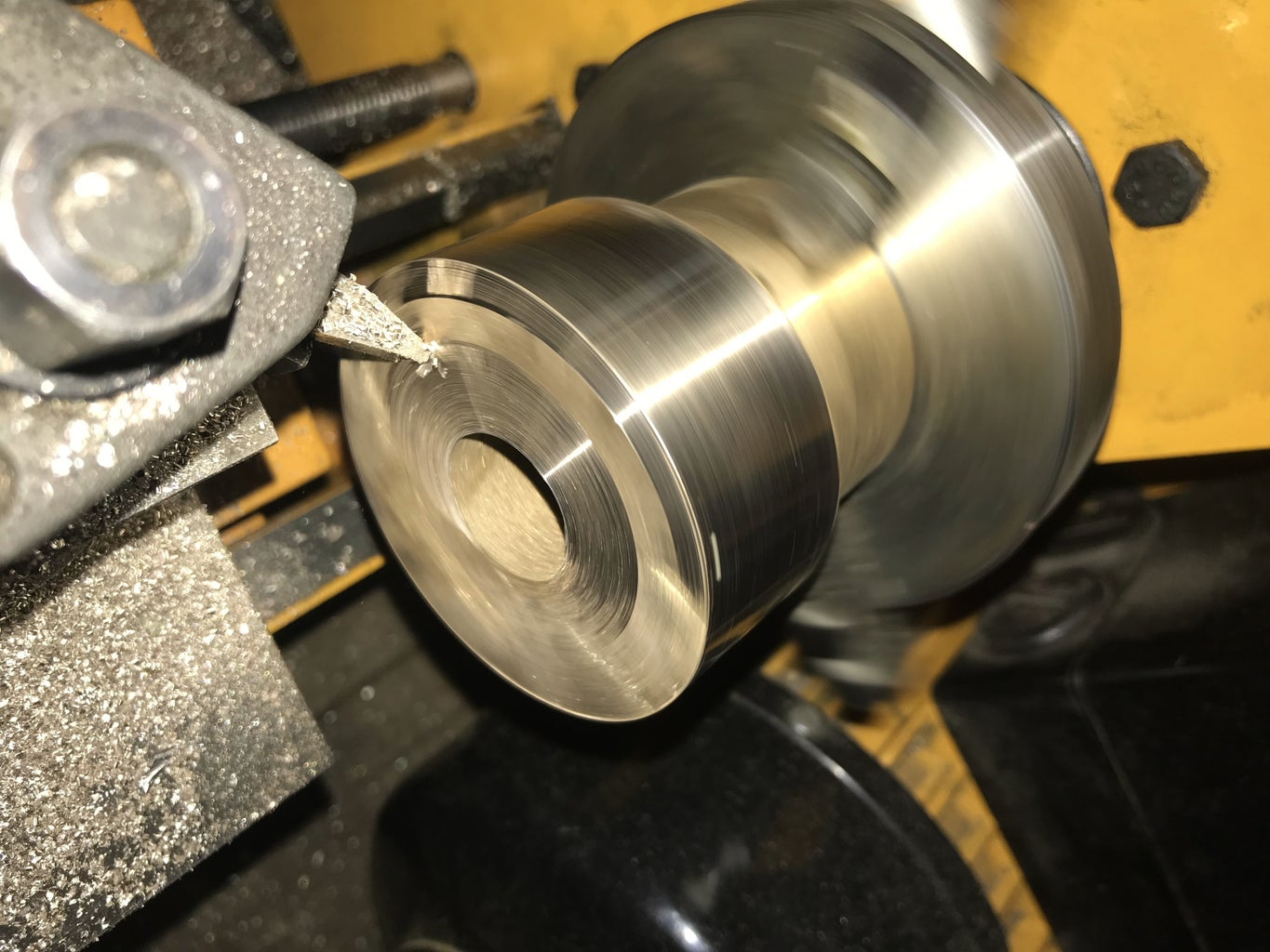 Turning the Brass Head to the Right Diameter