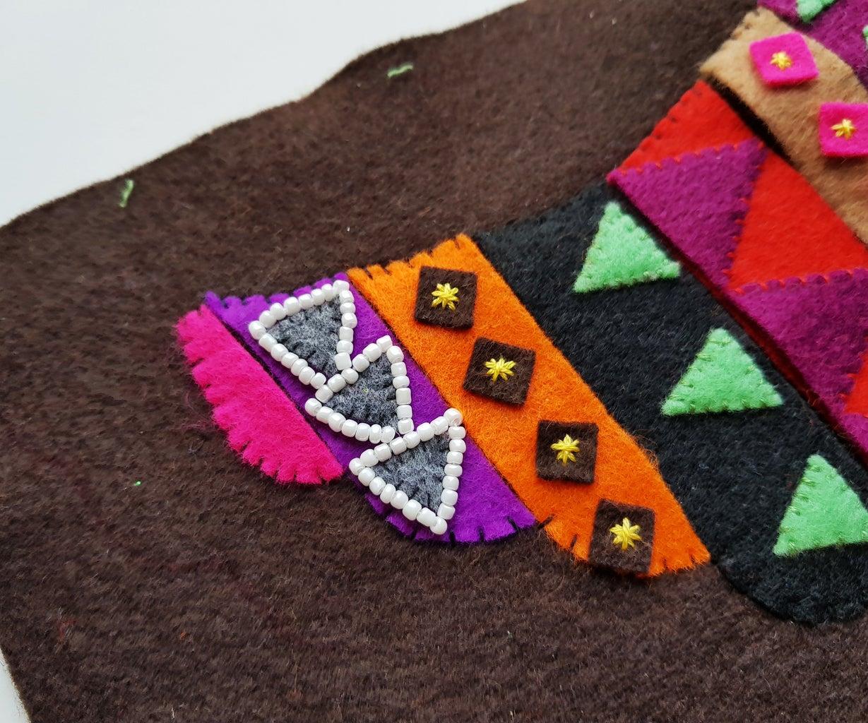 Stitching Seed Beads