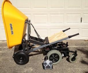 6-Wheeled R/C Wheelbarrow With Pneumatic Dump