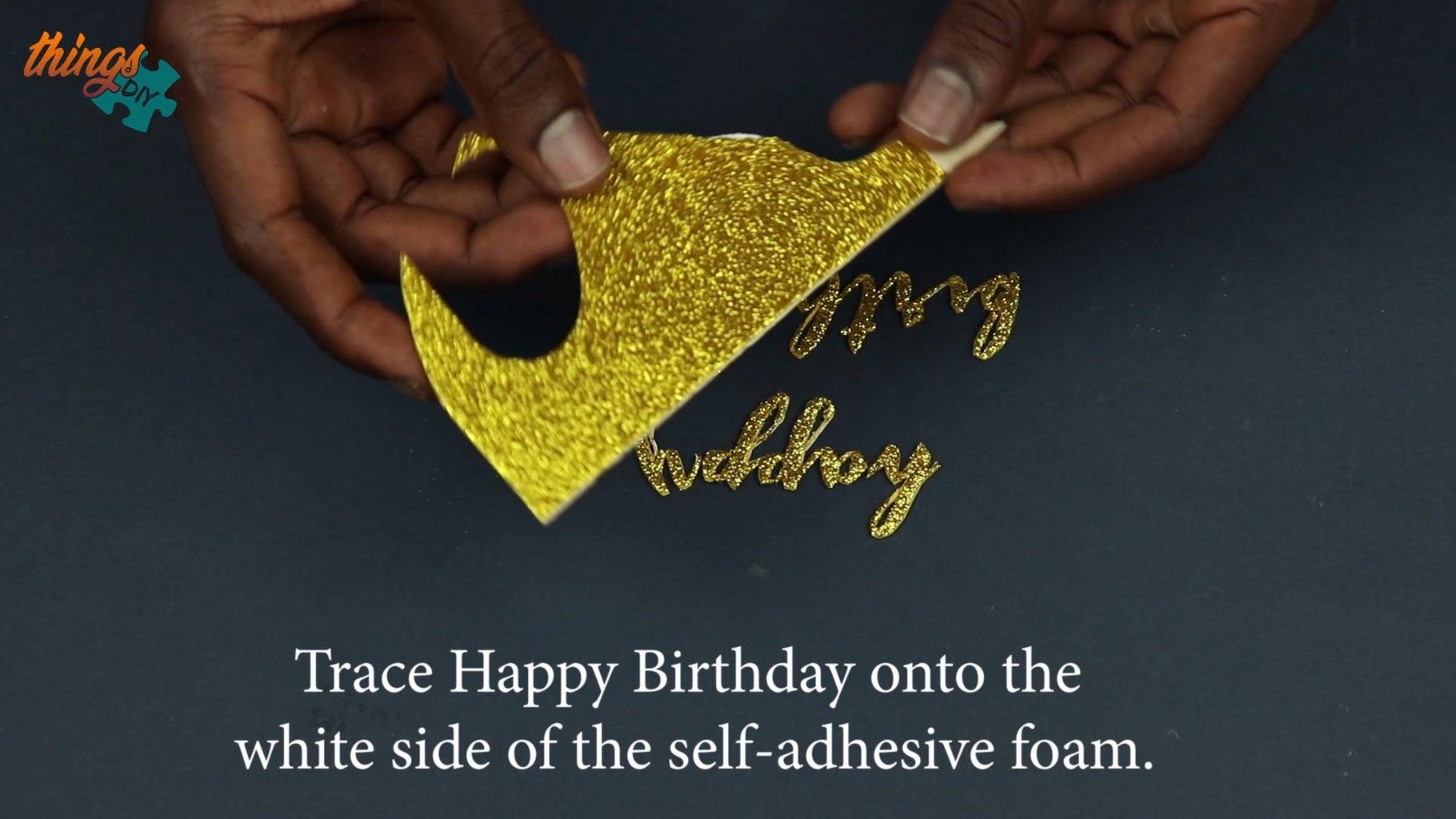 Cutout 'Happy Birthday' Text