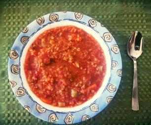 丰盛的扁豆汤