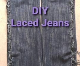 DIY Laced Jeans