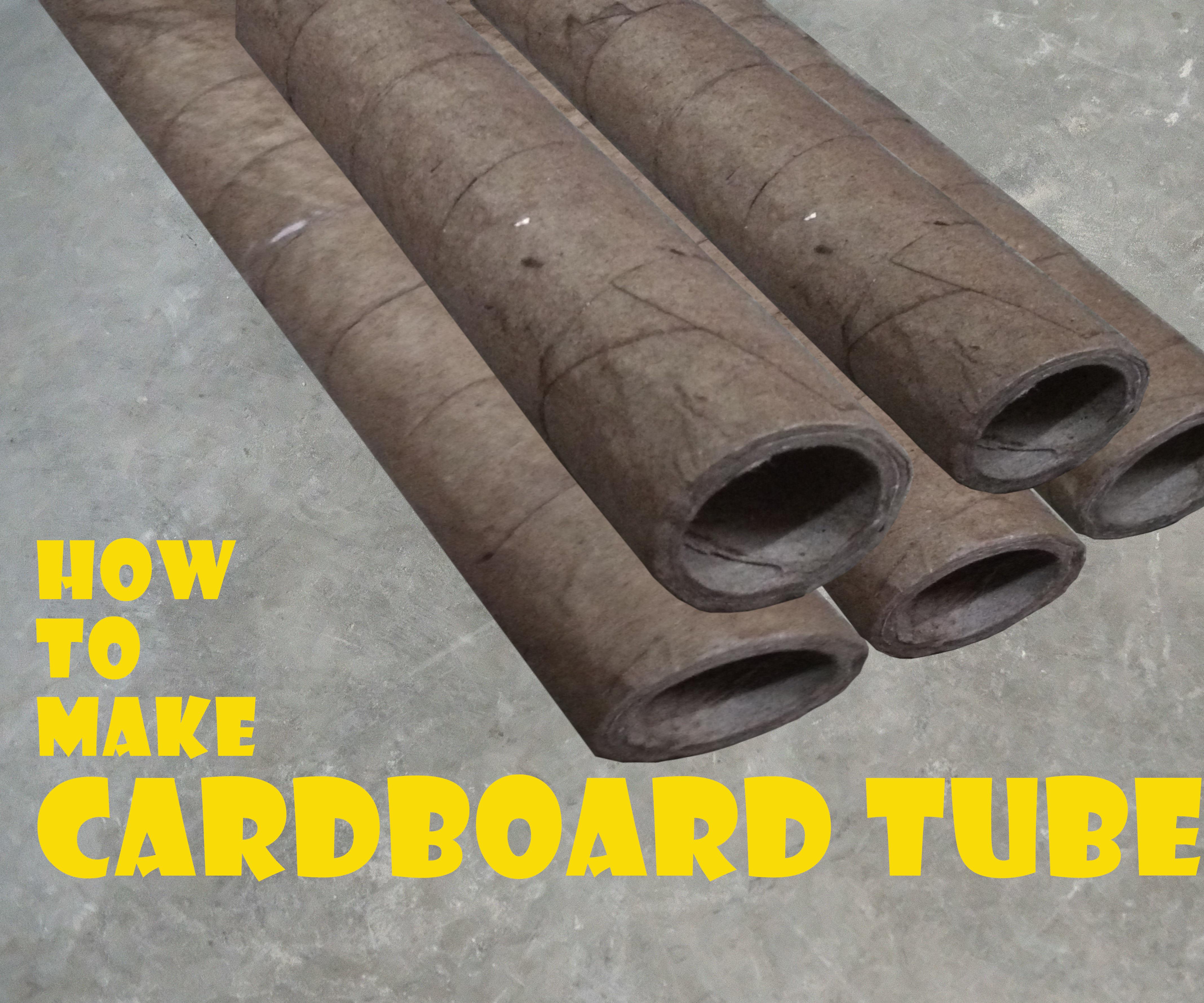 How to Make CARDBOARD TUBES