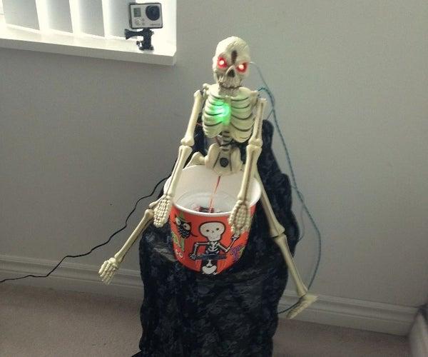 Automated Halloween Treat Dispenser - Powered by Intel Edison