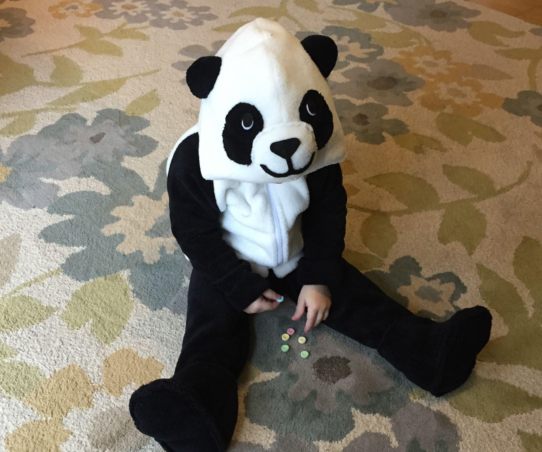 Warm, Cuddly Panda Hoodie and Heated Booties