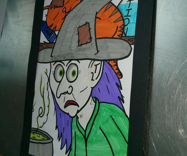 Optical Illusion Halloween Colouring Activity
