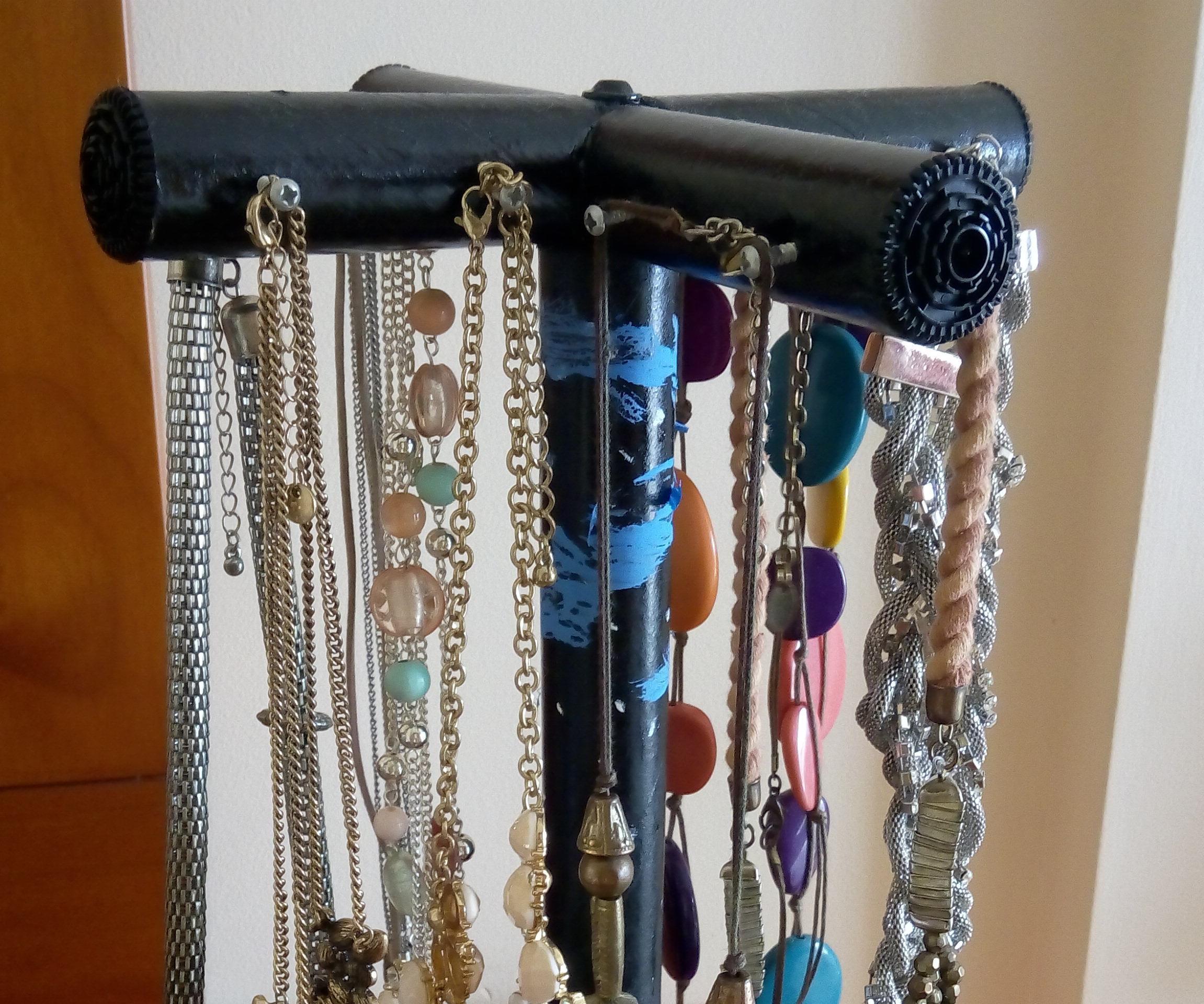 Cardboard tubes Necklace Hanger