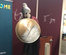 Spartan Warrior Turning to Stone Costume