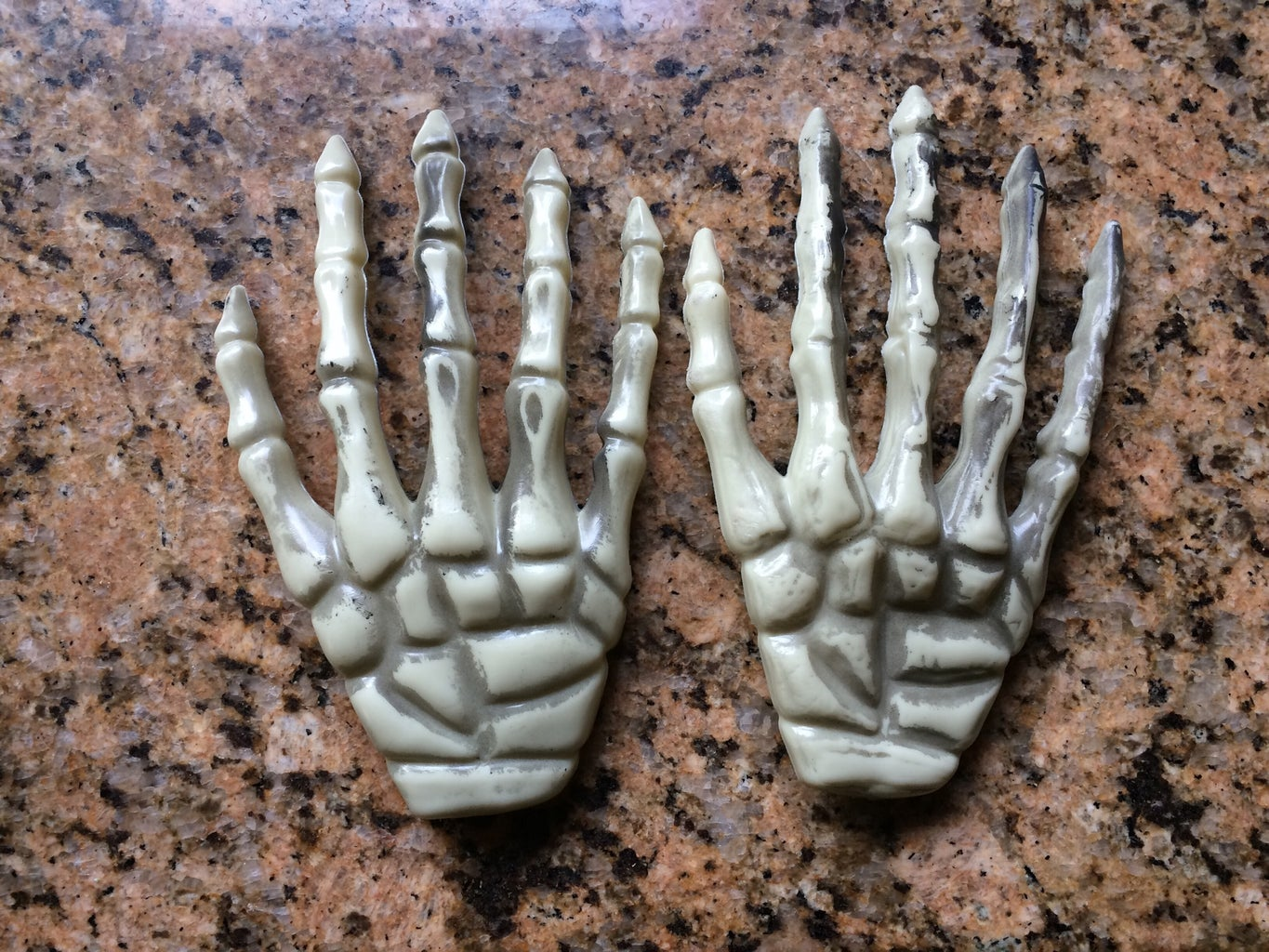 Quick and Spooky: Improving Dollar Store Skeleton Hands With a Heat Gun for Halloween