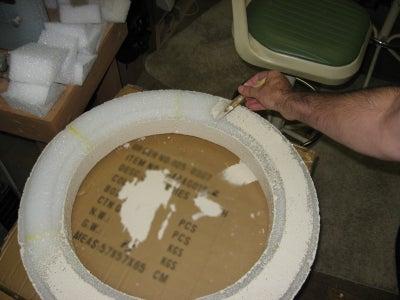 Filling in the Styrofoam Holes