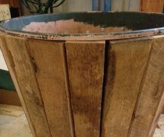 Wood Sheathed Flower Pot