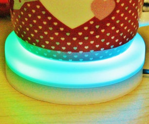 Wifi CONTROLLED COFFEE COASTER With COLOR CHANGING TEMPERATURE INDICATOR LED