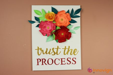 DIY Mother's Day Gift Idea | Paper Flower Wall Hanging