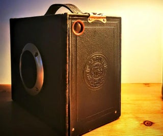 1920s Kodak Brownie Camera Converted to Rechargeable Bluetooth Speaker