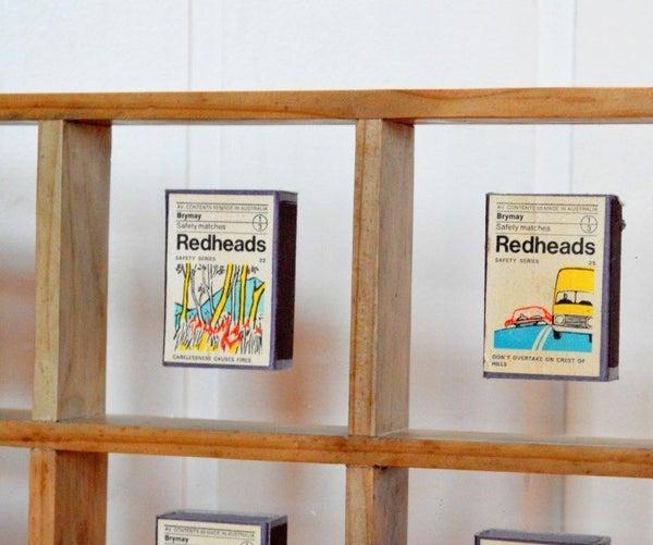 Display Vintage Matchboxes!