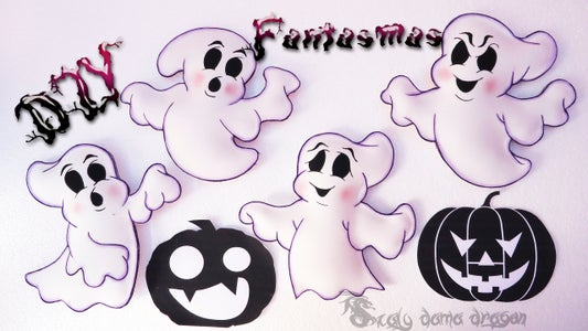 4 Ghosts Foamy or EVA for Halloween   DIY  ---4 Fantasmas De Foamy O Goma Eva Para Halloween   DIY  