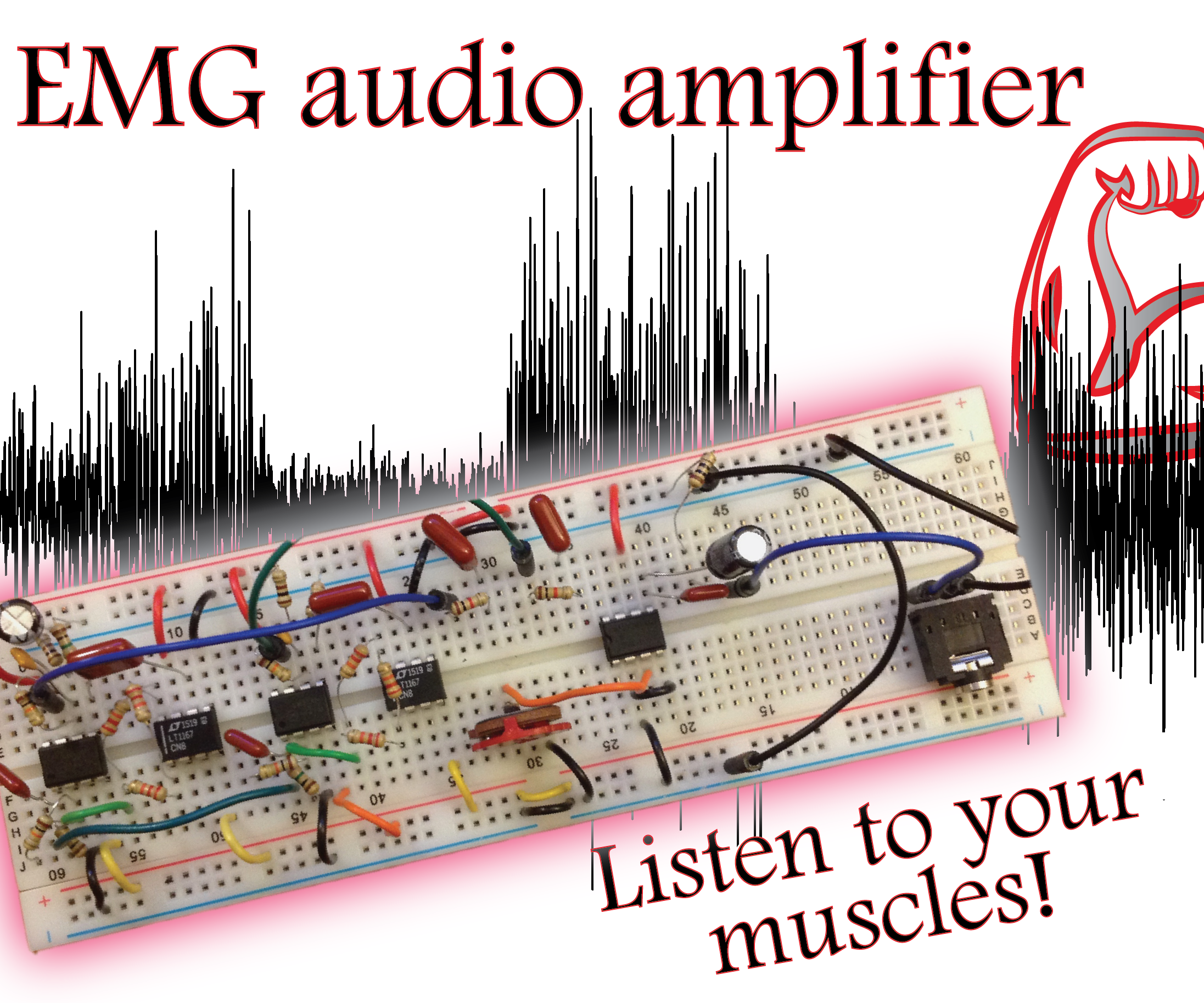 Build a Muscle Audio Amplifier! (Electromyography)