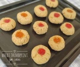 Wheat Thumbprint Cookies