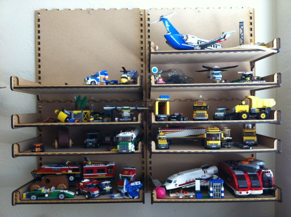 Updated - Lightweight Shelves for Legos - Cut With the Laser Engraver
