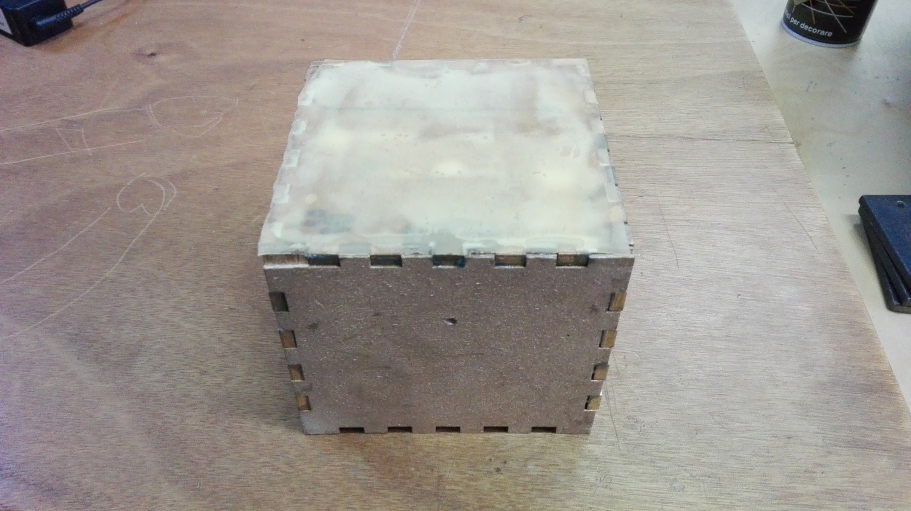 Apply the Rubber on the External Bottom of the Box