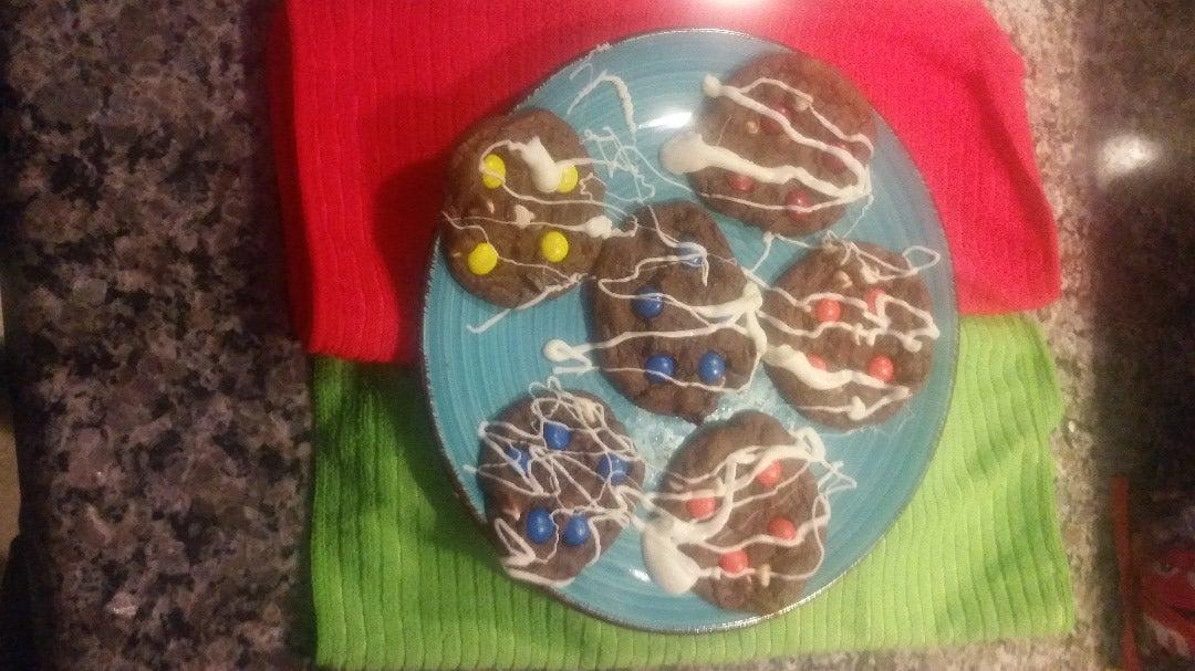 Triple Chocolate M&M Cookies