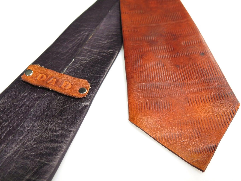 Leather Neckties