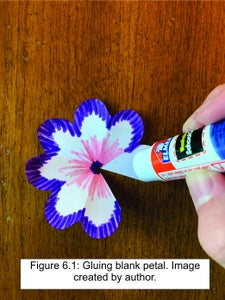 Glue the Flower Into a Cup-shape.