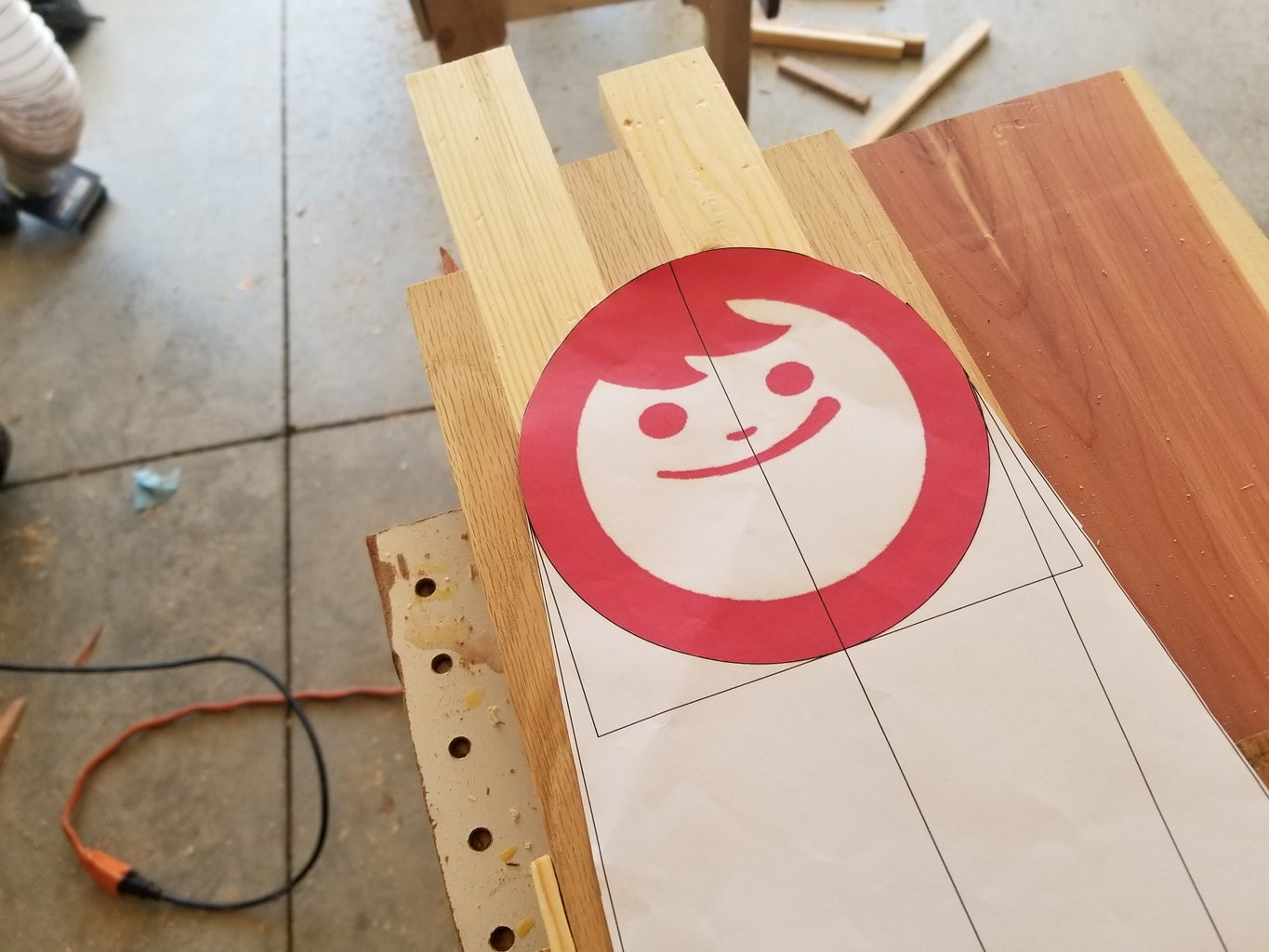 Print Out the Design and Find the Wood!